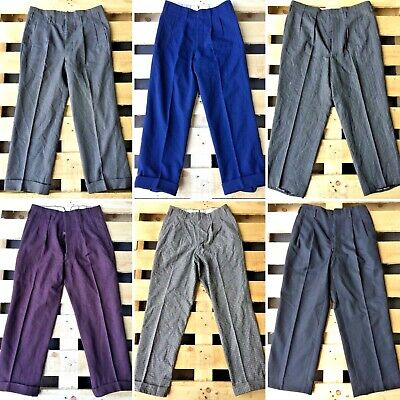 Vintage Wholesale Lot Men's Gents 1930's Style Trousers Pants Mix x 25