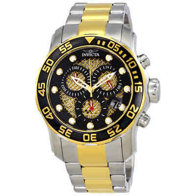 Invicta Pro Diver Chronograph Black and Gold Dial Men's Watch 19839