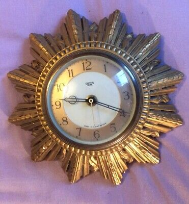 Vintage Smiths Sunburst 1950s / 60s Wall-Mounted Clock