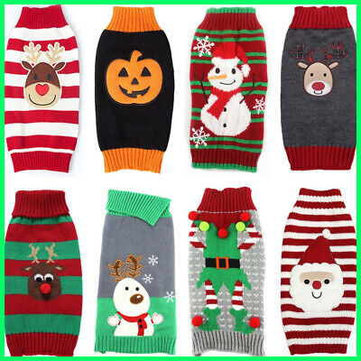 Christmas Dog Sweater Pet Knitwear Puppy Sweaters Apparel For Small Large Dog