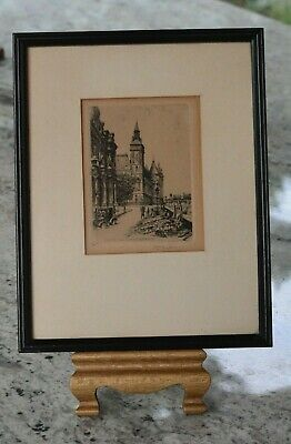 ANTIQUE EARLY 1900's FRENCH Etching by LEOPOLD ROBIN PARIS LA CONCIERGER