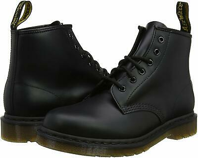 Men's Shoes Dr. Martens 101 SMOOTH Leather Lace Up Ankle Boots 24255001 BLACK