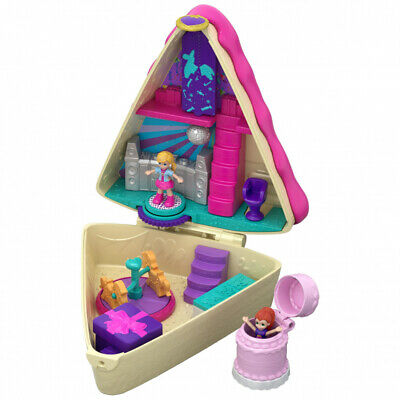 Polly Pocket Birthday Cake Bash Compact 2 Dolls and Accessories