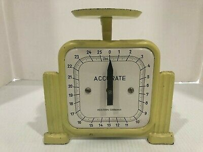 Vintage  ACCURATE Yellow Kitchen Scale