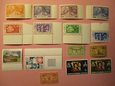 New Hebrides  1949 Onwards Mn/H Small Selection Stamps