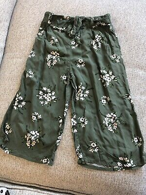 Next Girls Green Flowery Baggy Trousers Age 6