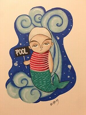 Illustrazione Illustration Disegno Sketch Original MERMAID pic draw color