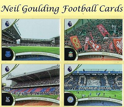 Topps PREMIER GOLD 2016 ☆ AMBIANCE ☆ Football Stadium Insert Cards #A1 to #A20