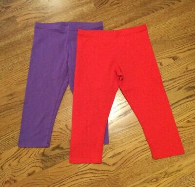 Lot of 2 Faded Glory girls cotton spandex capris size M (7-8)