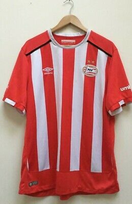 PSV Eindhoven Umbro Red White Home Football Shirt 2016-2017 Soccer Jersey XL