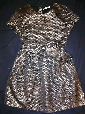 VGC Girls FCUK French Connection Black Gold Gorgeous Christmas Party Dress 12-13