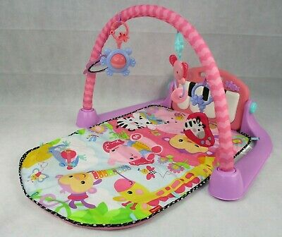 Fisher-Price Kick and Play Piano Gym, New Born Baby Play Mat with Activity