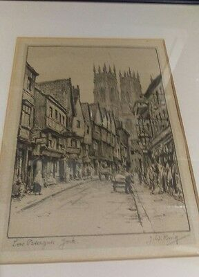 """Low Petersgate , York""  J.W.King"