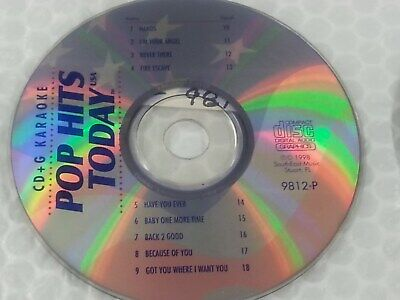 Pop Hits Today Karaoke Disc 9812-P December 1998 CD+G CDG