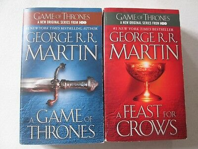 GEORGE R.R. MARTIN LOT 2 GAME OF THRONES SERIES PAPERBACKS Books 1 4 Feast Crows