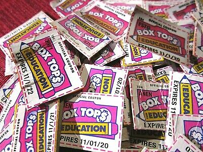 50 Box Tops Lot For Education Trimmed Free Shipping!