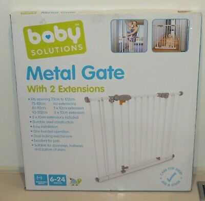 Baby Safety Gate 73-102cm with two extensions - Baby Solutions