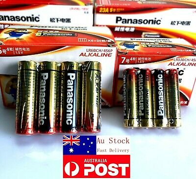 AU Genuine Panasonic Alkaline AA LR6BCH , AAA LR03BCH 1.5V Battery Long Life