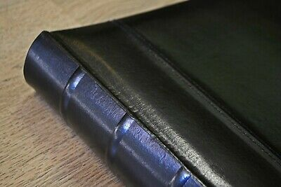 Box of 4 Guestbook/Photo Albums Black Leather Drymount 100 pages