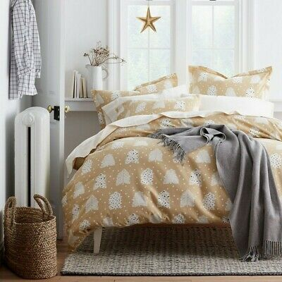 The Company Store Holiday Tree 5 Cotton Christmas Flannel Bedding Queen Sheets
