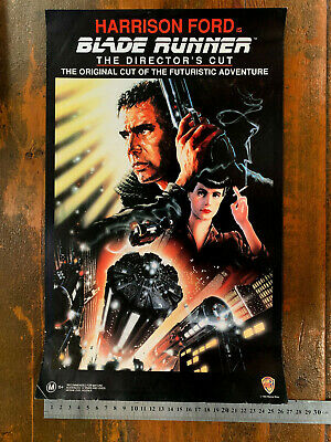 BLADE RUNNER rare Warner Bros Home MINI VIDEO POSTER VHS era sci-fi movie