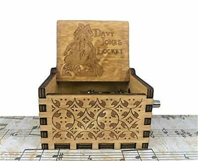 PhoenixAppeal Beautiful Carved Wooden Music Box Hand cranked: Lord Davy Jones