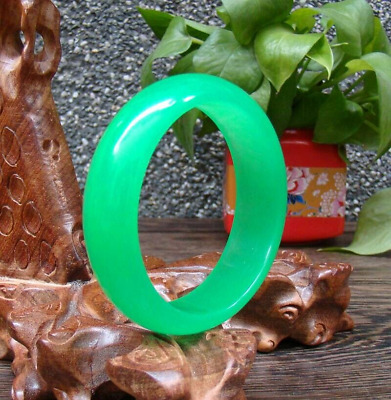 Hand-carved chinese natural Hetian jade bracelet Exquisite Green
