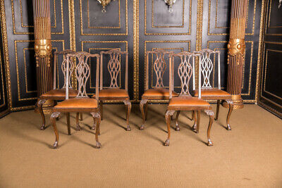 6er Set Chairs Original Neo Baroque um 1870 Walnut