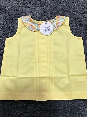 Lacey Lane Maybel Collared Button Back Top Sz 2 NWT