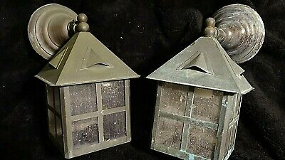 Arts & Crafts Mission Tudor cottage Exterior Copper Wall Sconce 2 available