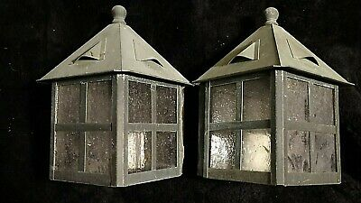 Arts & Crafts Mission Tudor cottage Exterior Copper Wall Sconce 2 available #2