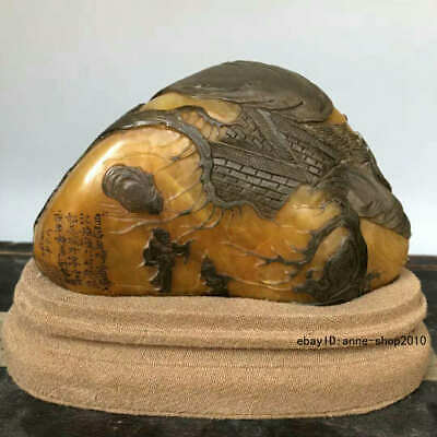 Natural Tianhuang Shoushan Stone Carving old man Pine seal stamp signet ALLL