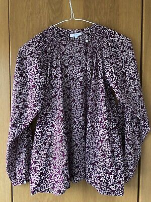 Girls Liberty print Jacadi Paris cotton blouse 12 years Excellent cond. French