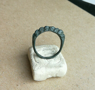 ANCIENT Viking Twisted BRONZE FINGER RING 9 - 10 century AD Wearable RARE FORM