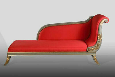 French Chaise Longue Sofa in Empire Style