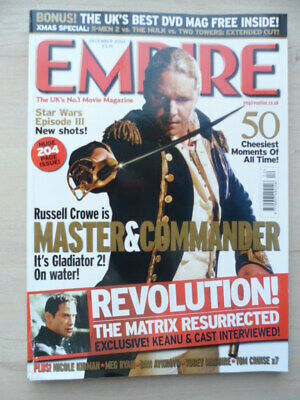 Empire magazine - Dec 2003 - # 174 - MASTER & COMMANDER