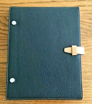 Coach Genuine Black Pebble Leather Compostion Notebook/ Sketchbook Refillable