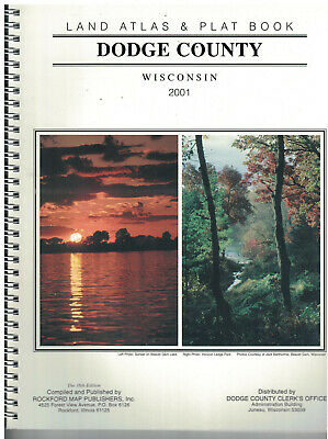 2001 Dodge County Wisconsin Land Atlas &  Plat Book  soft covered
