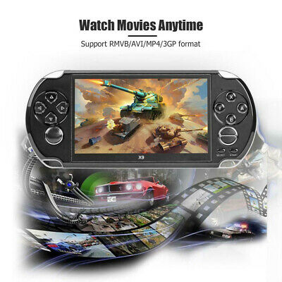 X9 5.1 inch 8-bit-128Bit Retro Handheld Game Console MP3 MP4 Video Player Camera