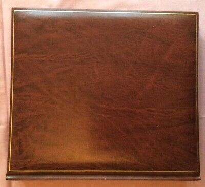 Leather Look Photograph Album, 30 Black Pages, tissue Interleaving, 26 x 28cm