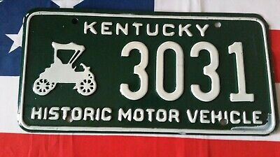 Plaque d'immatriculation Kentucky 3031 US USA license plate