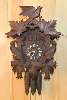 German Black Forest Cuckoo and Quail Clock ~ Bachmaier & Klemmer ~