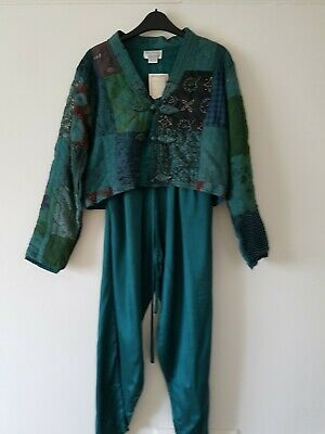 Vintage Natural Choice Trouser Suit Size M - 12 Hippy