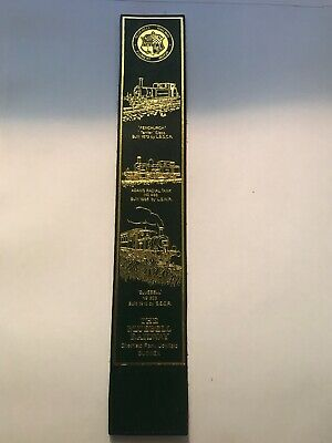 Leather bookmark. The Bluebell Railway. Sheffield Park. Sussex. Four images.