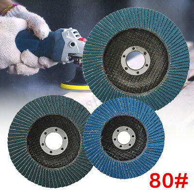 100 /115 /125mm Flap 80 Grit Discs Wheel Angle Sanding Grinder Rotary Tools