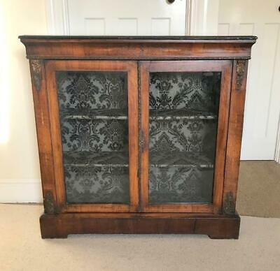 Antique 1800'S Early Victorian Walnut Pier Cabinet Display Cabinet Bookcase