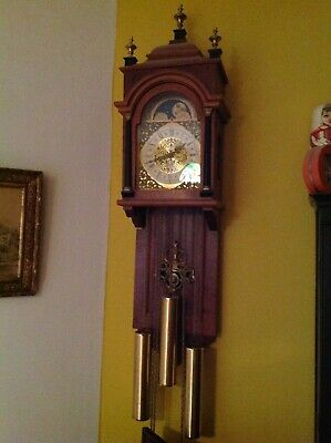 Nice Dutch wall clock with weights working