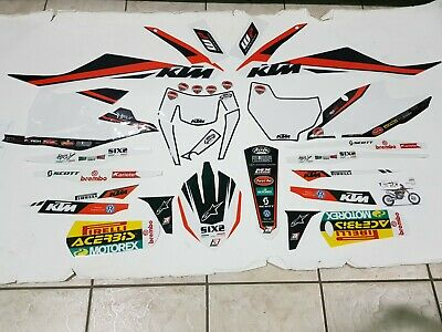 Kit Adesivi Grafiche Graphics Stickers Blackbird Ktm Sxf 250 350 450 2016