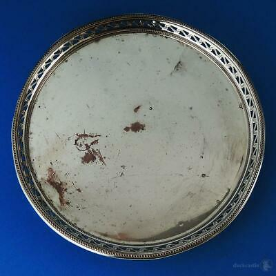 GEORGE III OLD SHEFFIELD PLATE Pierced Footed WAITER TRAY c1780 7 Inches