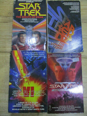 Star Trek books of the films - 2,4,5 and 6